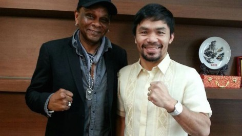 gtg director Will Harper with senator manny pacquiao
